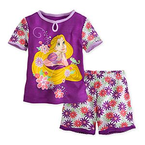 Rapunzel PJ Pal Shorts Set for Girls