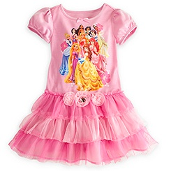 Disney Princess Nightshirt with Tutu for Girls