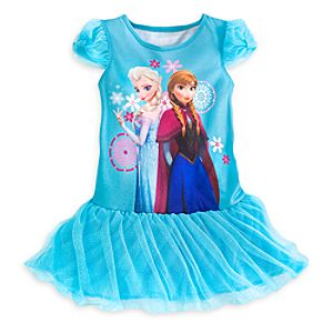 Anna and Elsa Deluxe Nightshirt for Girls - Frozen