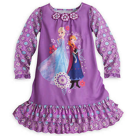 Anna and Elsa Long Sleeve Nightshirt for Girls - Frozen