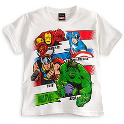 The Avengers Tee for Boys - White