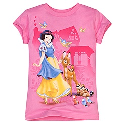 Glittering Forest Snow White Tee for Girls