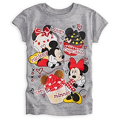 Mickey and Minnie Mouse Tee for Girls