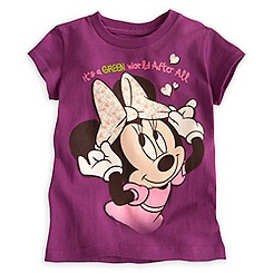 Minnie Mouse Tee for Girls - Earth Day