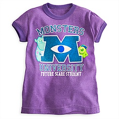 Monsters University Ringer Tee for Girls