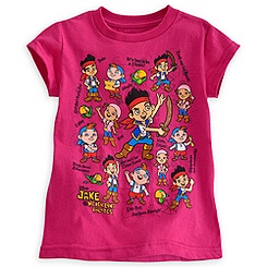 Jake and the Never Land Pirates Tee for Girls