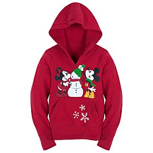 Share the Magic Minnie and Mickey Mouse Pullover Hoodie for Girls