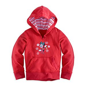 Minnie Mouse Holiday Hoodie for Girls
