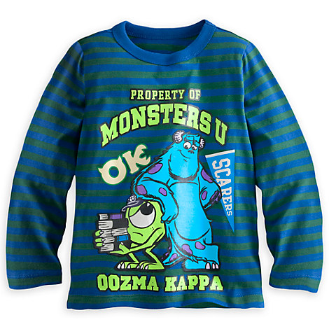 Monsters University Long Sleeve Tee for Boys