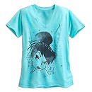 Tinker Bell Slub V-Neck Tee for Women