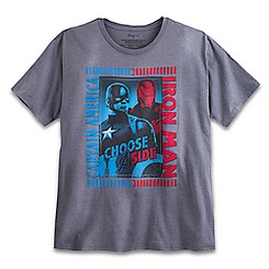 Captain America and Iron Man Tee for Adults - Plus Size