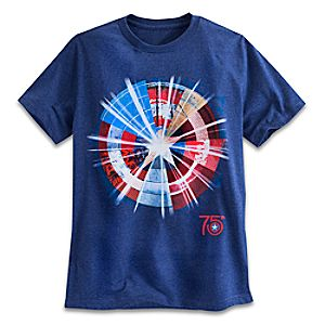 Captain America 75th Anniversary Shield Tee for Men