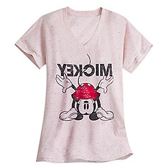Mickey Mouse V-Neck Tee for Women