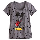 Mickey Mouse Heathered Tee for Women - Valentine's Day