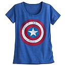 Captain America Shield Tee for Women