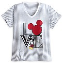 Mickey Mouse Striped Tee for Women - Plus Size