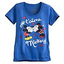 Mickey and Minnie Mouse ''Je T'aime Mickey'' Tee for Women
