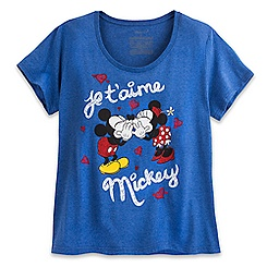 Mickey and Minnie Mouse ''Je T'aime Mickey'' Tee for Women - Plus Size