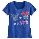 Mickey and Minnie Mouse Icon Tee for Women
