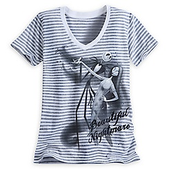 Jack Skellington and Sally V-Neck Tee for Women
