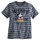 Mickey Mouse Striped Varsity Tee for Men