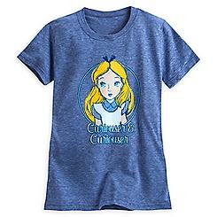 Alice in Wonderland Slubbed Fashion Tee - Blue