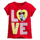 Minnie Mouse Tee for Girls - ''I Love Mickey'' Collection