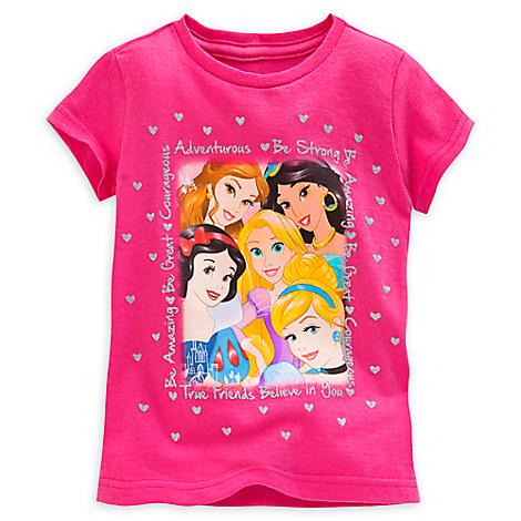 disney princess selfie tee for girls tees tops shirts disney store. Black Bedroom Furniture Sets. Home Design Ideas