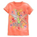 Tinker Bell Tee for Girls - Valentine's Day