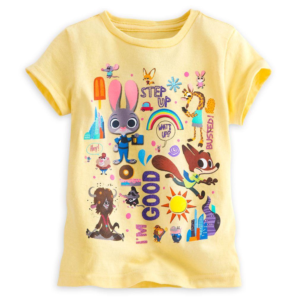zootopia黄色疯狂动物城t恤女孩款