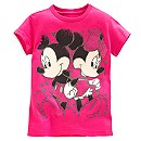 Mickey and Minnie Mouse Tee for Girls - Valentine's Day