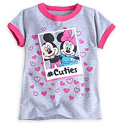 Mickey and Minnie Mouse Cuties Tee for Girls