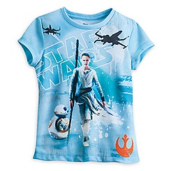 Rey Sublimated Art Tee for Girls - Star Wars: The Force Awakens
