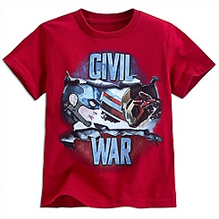 Captain America: Civil War Tee for Boys - Red