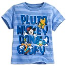 Mickey Mouse and Friends Striped Tee for Boys
