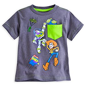 Toy Story Pocket Tee for Boys - Deluxe Storytelling