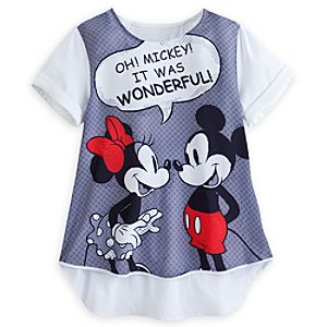 Mickey and Minnie Mouse Top for Women