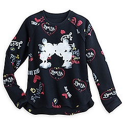 Mickey and Minnie Mouse Pullover Top for Women - ''I Love Mickey'' Collection