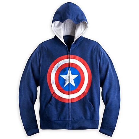 Captain america shield hoodie for men