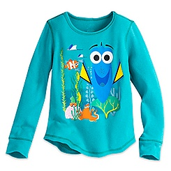 Finding Dory Long Sleeve Thermal Tee for Girls