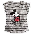Mickey Mouse Rhinestone Tee for Women