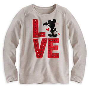 Mickey Mouse ''I Love Mickey'' Pullover Top for Women