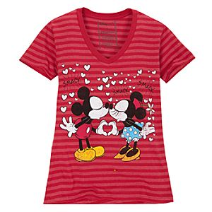 Eskimo Kiss Mickey and Minnie Mouse Tee -- Made With Organic Cotton