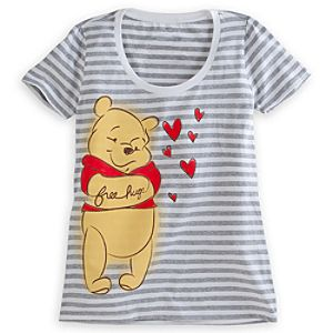 Winnie the Pooh Striped Tee for Women