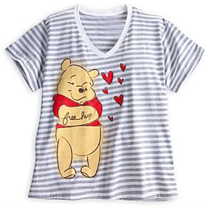 Winnie the Pooh Striped Tee for Women - Plus Size