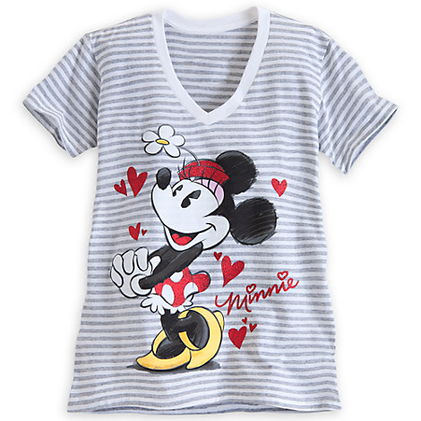 Minnie Mouse Striped Tee for Women