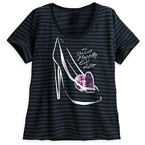 Cinderella Slipper Striped Tee for Women - Plus Size
