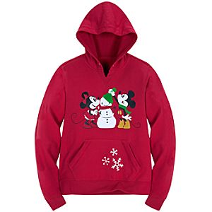 Share the Magic Minnie and Mickey Mouse Fleece Hoodie for Women