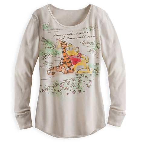 Winnie the Pooh Long Sleeve Thermal Tee for Women   Clothes   Disney Store