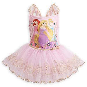 Disney Princess Deluxe Ballerina Tutu Leotard for Girls